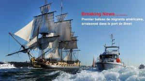 Premier bateau de migrants américains arraisonné dans le port de Brest